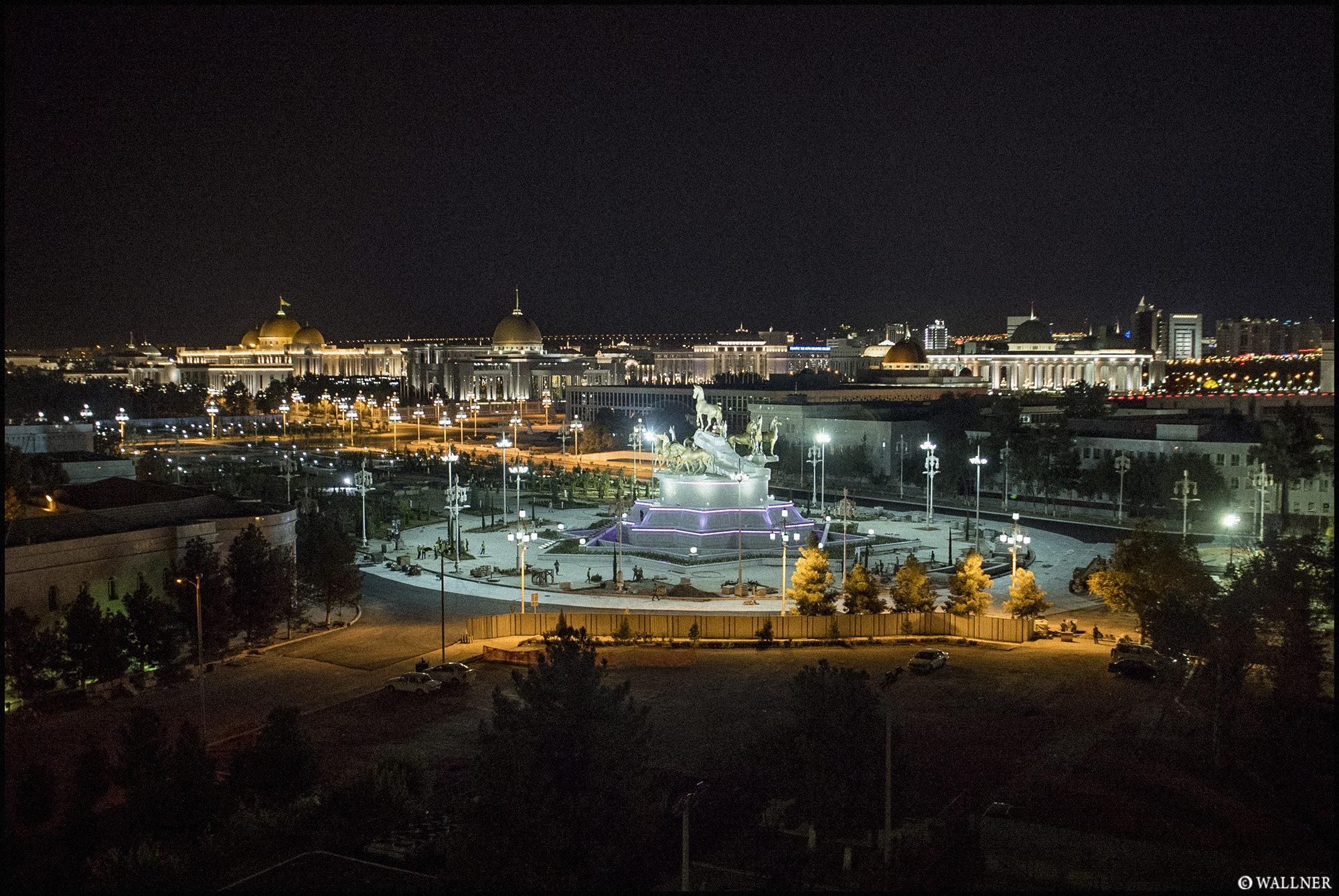 Digital Patrik Wallner Ashgabat Under Construction at Night LOWQ 2000P